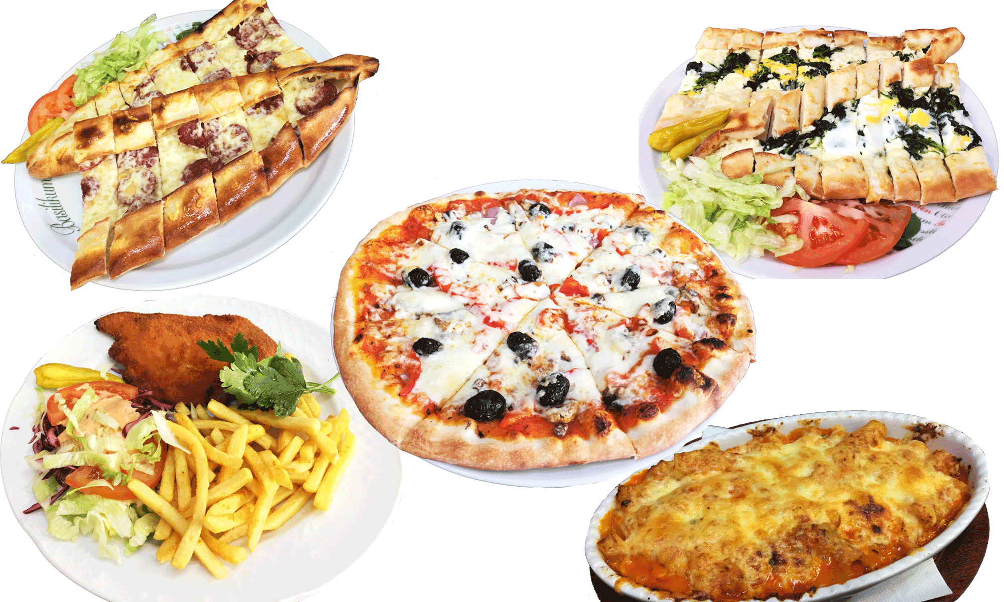 Essen bei Harran Pizza, Pide, Nudeln